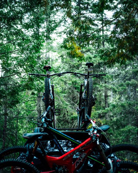 Dach oder Heck Träger Fahrrad?