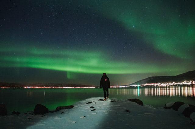 Wandern Norwegen Polarlicht