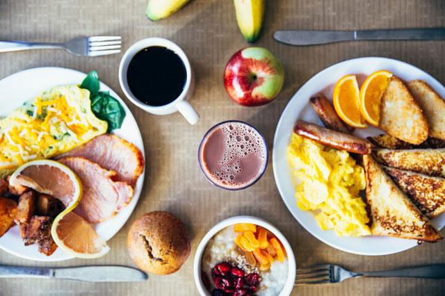 Frühstück vor der Wanderung