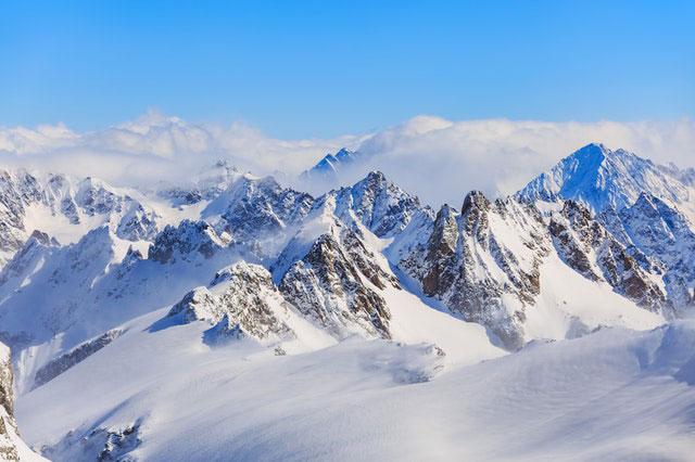 Ausblick Alpen Gipfelkette